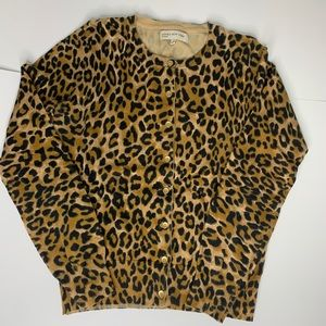 Jones New York Sport Cheetah Print Cardigan
